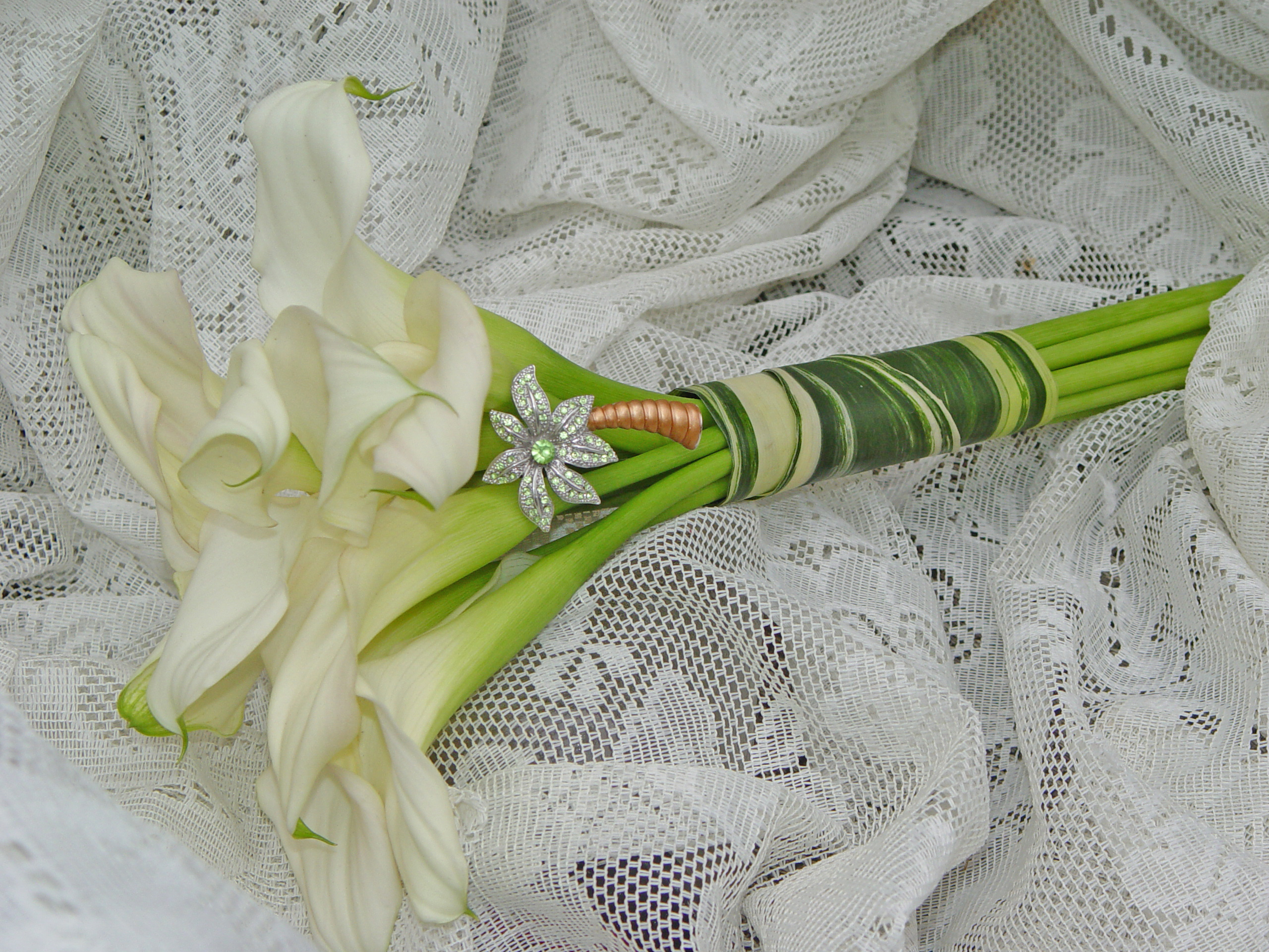Flowers & Decor, white, green, Bride Bouquets, Bridesmaid Bouquets, Flowers, Bouquet, Bridesmaid, Callas, Wine country weddings, Sonoma county wedding florist, The wild orchid