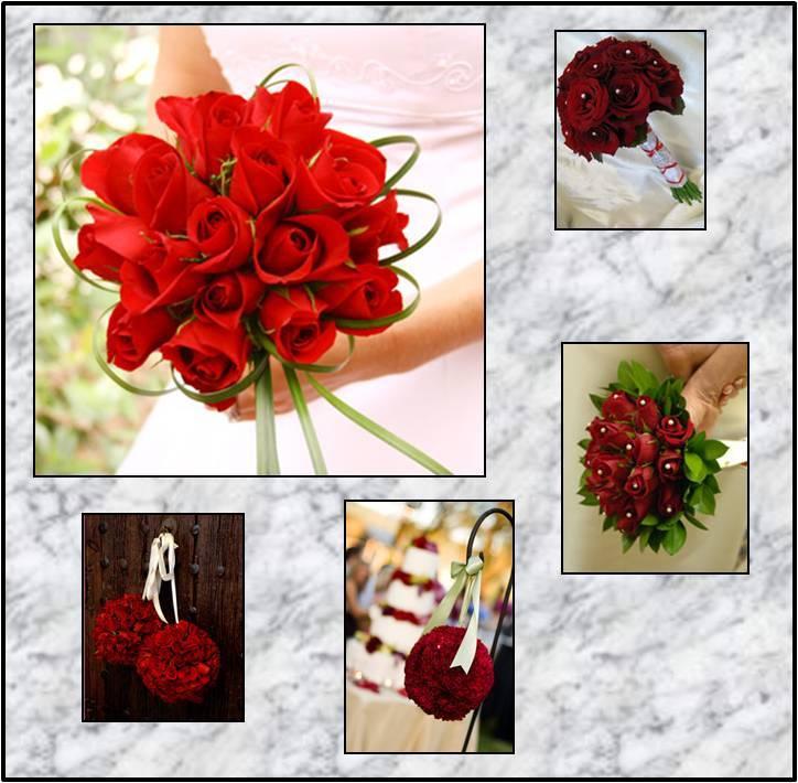 red, Rose, Pomander