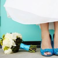 Shoes, Fashion, blue, Bouquet, Bridal, Turquoise, Something, Peep-toe