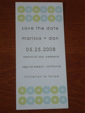 DIY, green, Modern, The, Save, Date, Std, Turquoise