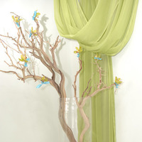 Flowers & Decor, green, Flowers, Branches, Orchids, Ribbon, Turquoise, Manzanita