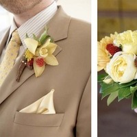 yellow, Boutonniere