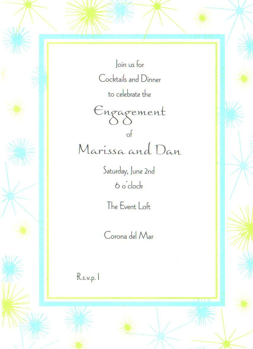 Engagement, Invite