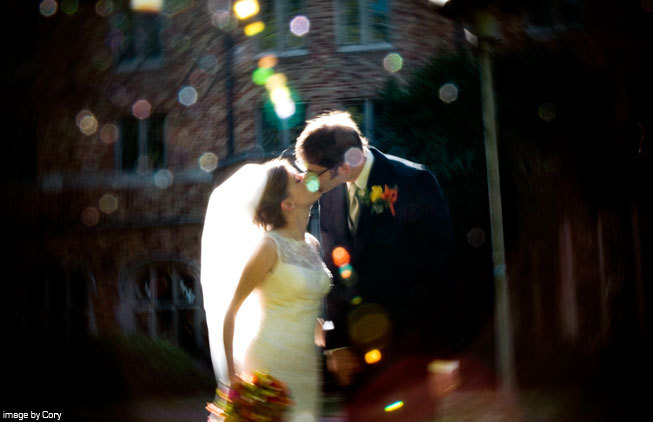 Spring, Summer, Fall, Bride, Outdoor, Groom, Kiss, Couple, Married, Seattle, Romance, Love, Washington, Urban