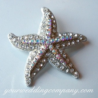 Jewelry, Brooches, Beach, Starfish, Theme, Crystal, Swarovski, Brooch, Your wedding company, Accent, Dress detail, Bouquet accent