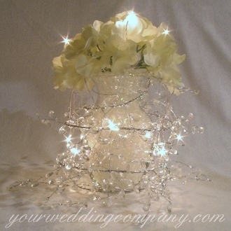 Reception, Flowers & Decor, Centerpieces, Centerpiece, Table, Floral, Glass, Hydrangeas, Lights, Decoration, Your wedding company, Reception centerpiece
