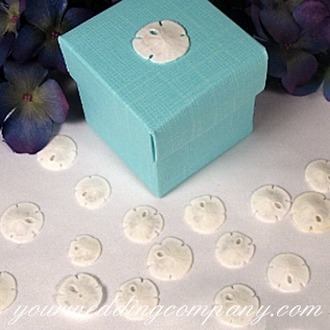 Reception, Flowers & Decor, Favors & Gifts, blue, favor, Favors, Beach, Beach Wedding Favors & Gifts, Beach Wedding Flowers & Decor, Theme, Tiffany, Box, Aqua, Decoration, Your wedding company, Favours, Favor box, Sand dollars