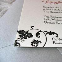 Stationery, red, black, Invitations, And, Letterpress