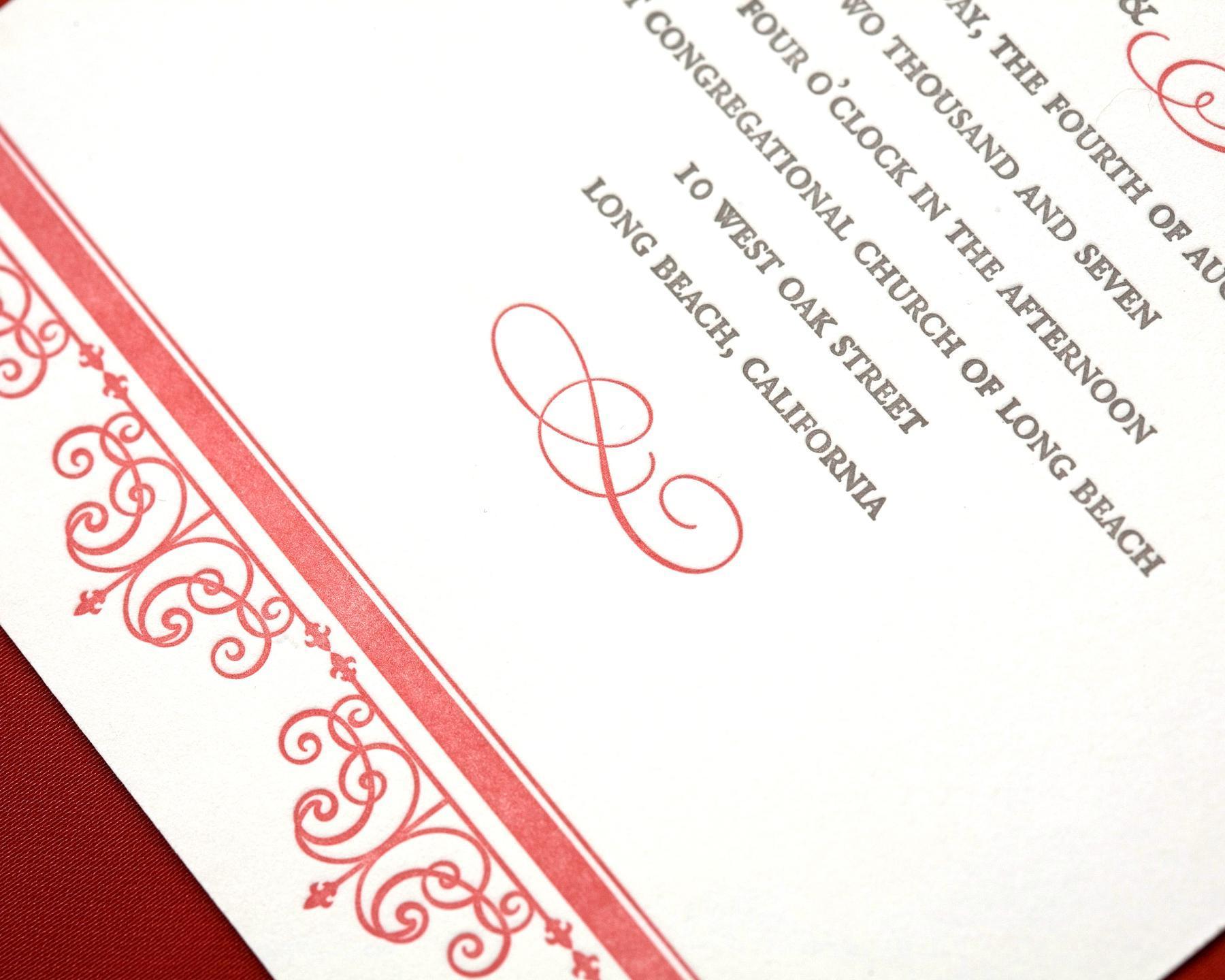 Stationery, Invitations, Letterpress