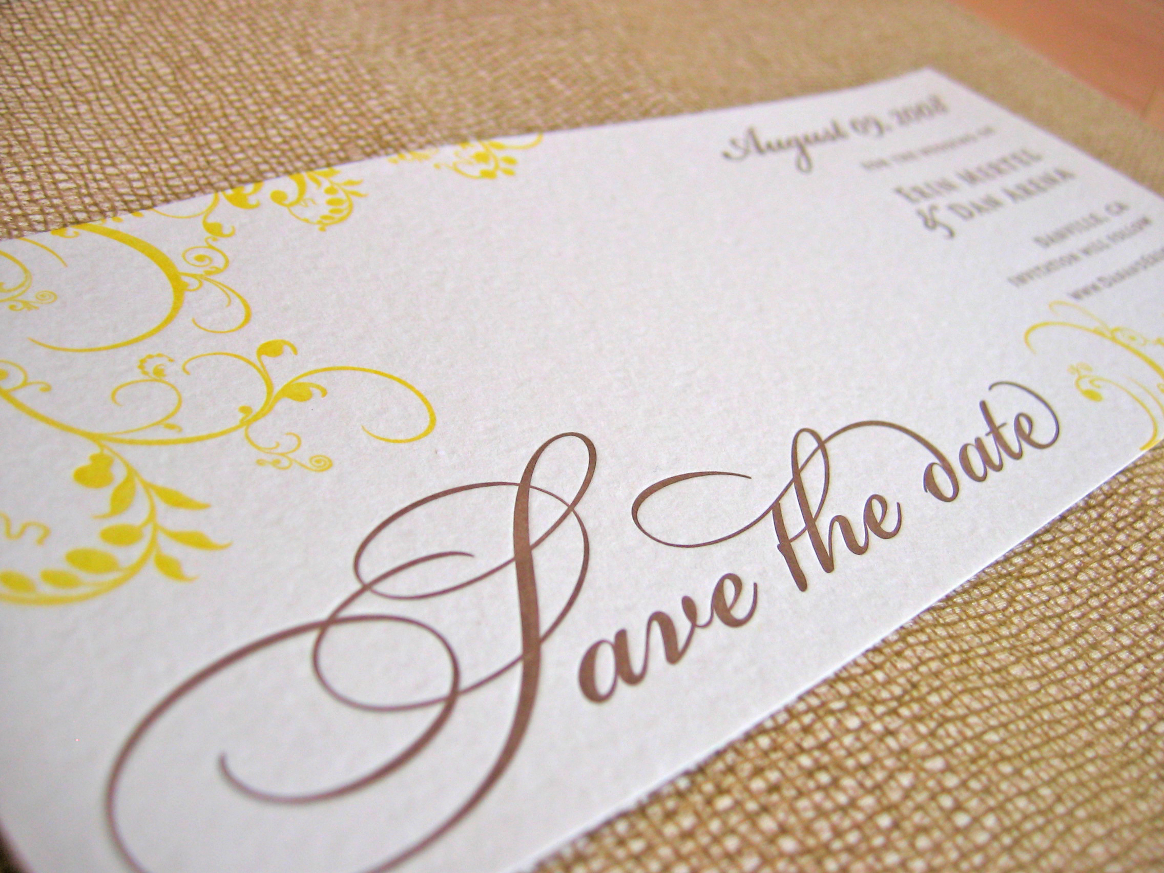 Stationery, Invitations, The, Letterpress, Save, Date