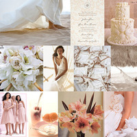 Inspiration, Reception, Flowers & Decor, white, pink, Beach, Beach Wedding Flowers & Decor, Board