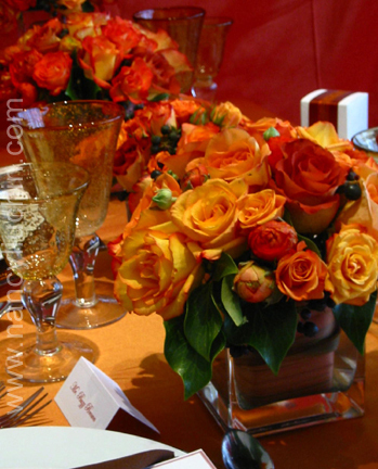 Flowers & Decor, red, gold, Centerpieces, Flowers