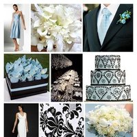 Inspiration, white, blue, black, And, Board, Damask, Sea, Foam