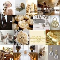 white, brown, gold, Inspiration, Board, Champagne, ivory