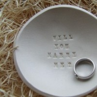 white, Proposal, Nest, Engagement, Day, Marriage, Bowl, Etsy, Palomas, Palomas nest on etsy, Valentines