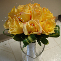 Flowers & Decor, yellow, Bride Bouquets, Flowers, Roses, Bouquet