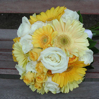 Flowers & Decor, yellow, Bride Bouquets, Flowers, Roses, Bouquet, Gerber daisies