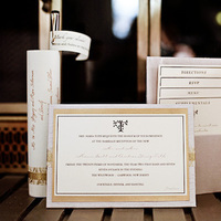 Stationery, white, gold, Invitations, Studio ayt