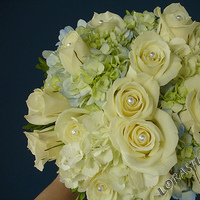 Flowers & Decor, white, blue, Bride Bouquets, Flowers, Roses, Bouquet, Hydrangea