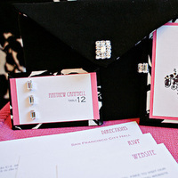 Stationery, white, pink, black, Invitations, Studio ayt
