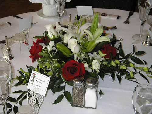 Flowers & Decor, white, red, Centerpieces, Flowers, Roses, Centerpiece, Orchids, Lily