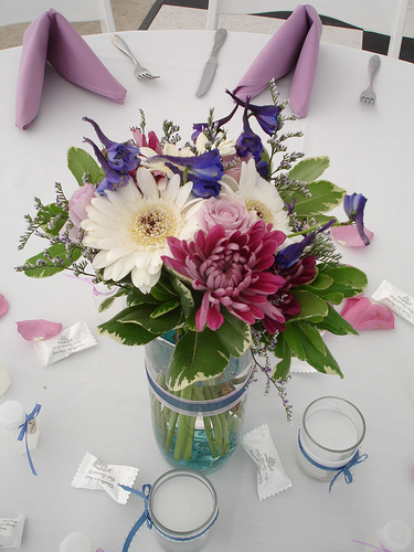 Flowers & Decor, purple, Centerpieces, Flowers, Centerpiece