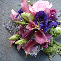 Flowers & Decor, pink, purple, Bride Bouquets, Flowers, Roses, Bouquet, Calla-lilies