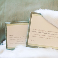 Stationery, white, green, Invitations, Fur, Studio ayt