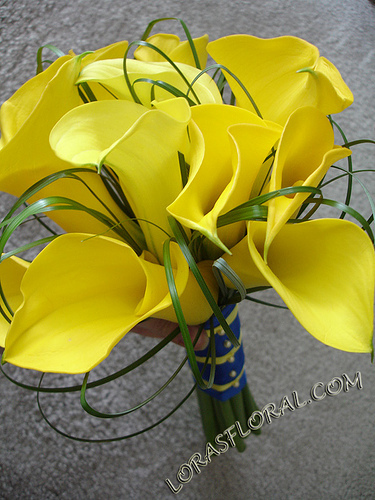 Flowers & Decor, yellow, Bride Bouquets, Flowers, Bouquet, Calla-lilies