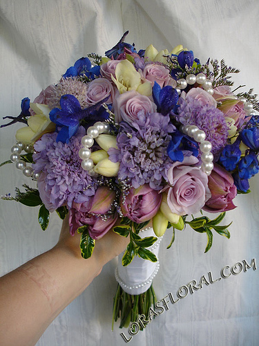 Flowers & Decor, purple, blue, Bride Bouquets, Flowers, Roses, Bouquet, Tulips