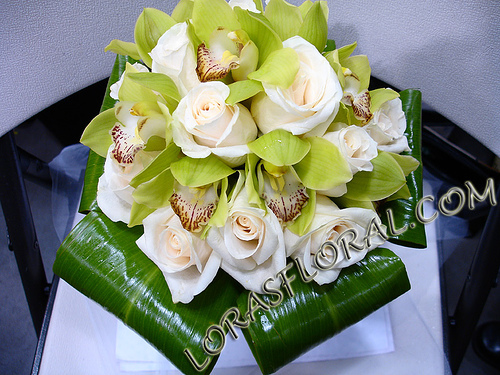 Flowers & Decor, white, green, Flowers, Roses, Orchids, Cream