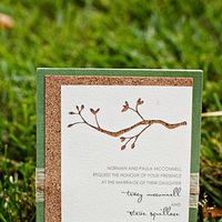 Stationery, green, brown, Garden Wedding Invitations, Rustic Wedding Invitations, Invitations, Studio ayt