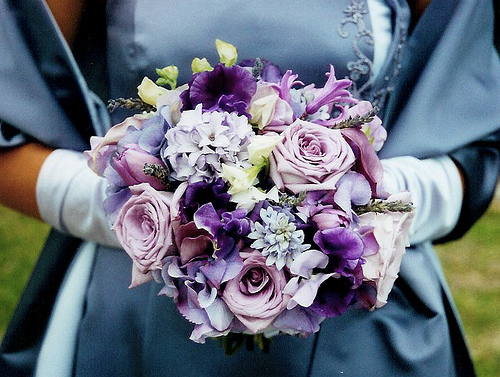 Flowers & Decor, purple, Bride Bouquets, Flowers, Roses, Bouquet, Hydrangea, Calla-lilies