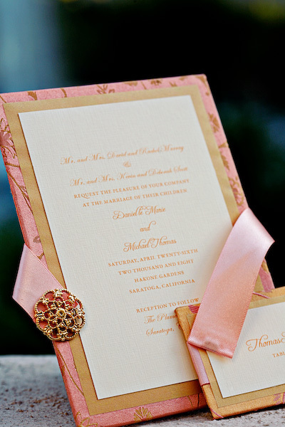 Stationery, pink, gold, Glam Wedding Invitations, Vintage Wedding Invitations, Invitations, Studio ayt