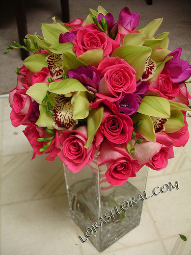 Flowers & Decor, pink, Bride Bouquets, Flowers, Roses, Bouquet, Tropical, Orchids