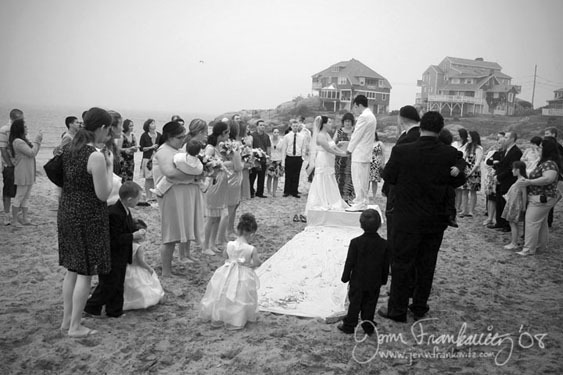 Ceremony, Flowers & Decor, Beach, Bride, Beach Wedding Flowers & Decor, Groom, Jenn frankavitz photography