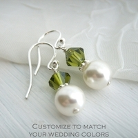 Jewelry, Bridesmaids, Bridesmaids Dresses, Fashion, Earrings, Bride, Custom, Crystal, Swarovski, Pearl, K garner designs