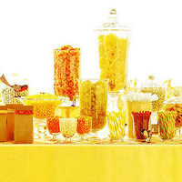 Reception, Flowers & Decor, yellow, Candy, Bar