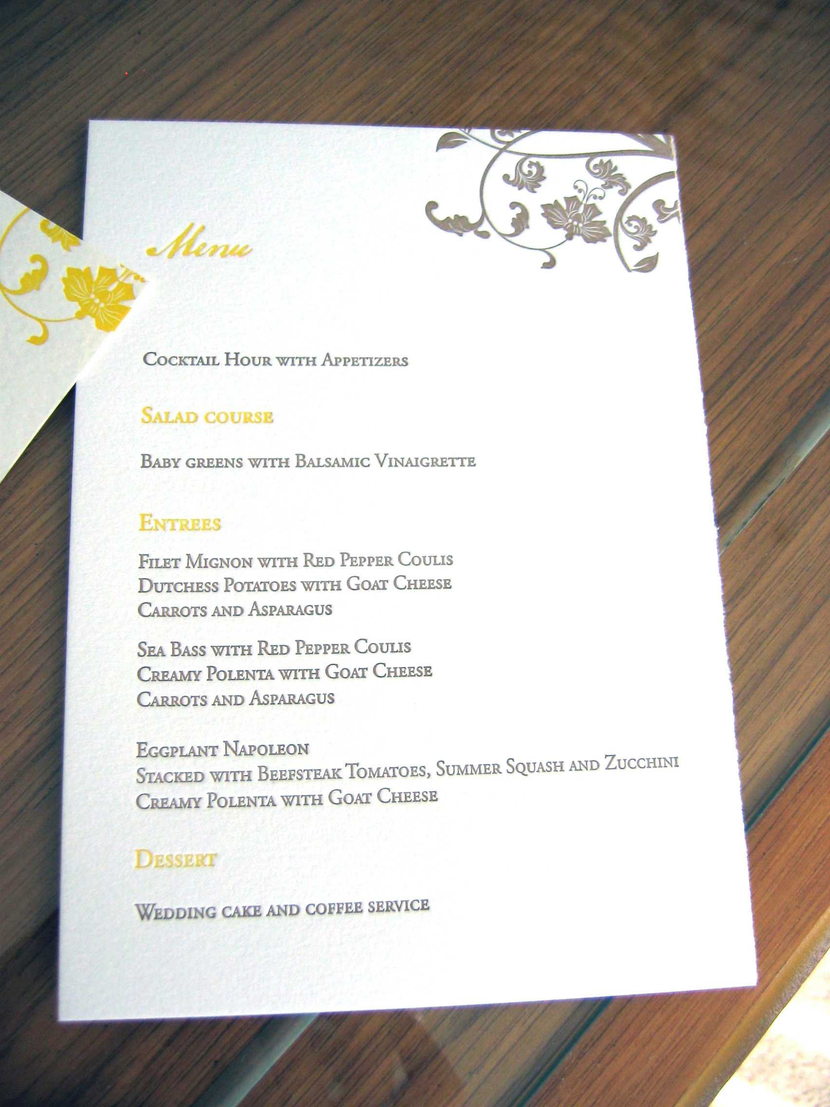 yellow, brown, Menu, Letterpress