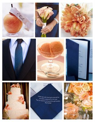 Inspiration, orange, blue, Peach, Board, Navy