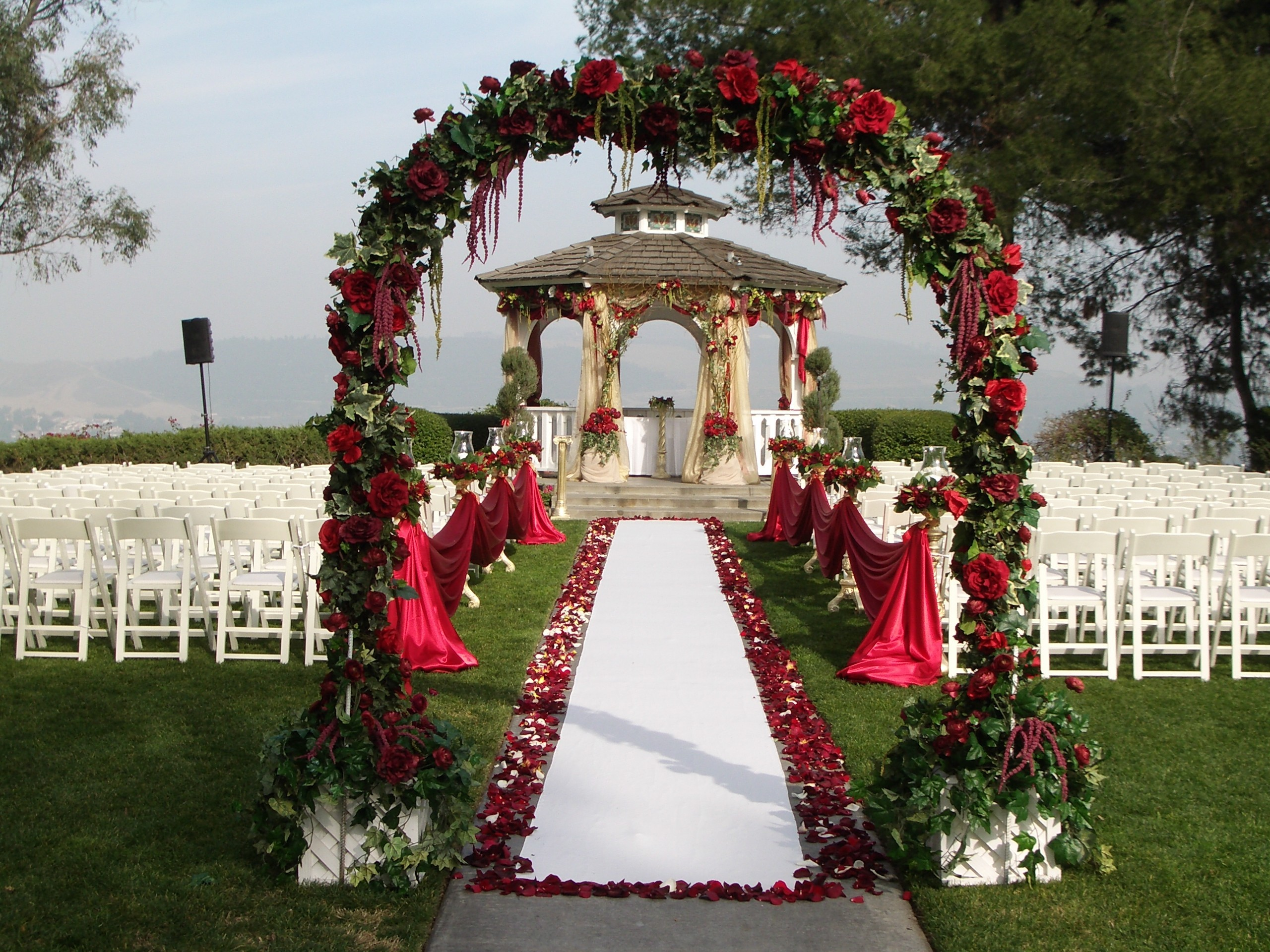 Outdoor, Gazebo, Pacific palms resort, Ceremonywedding