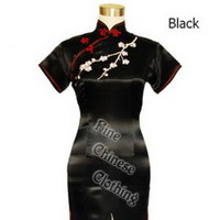 Wedding Dresses, Fashion, black, dress, Bride, Wedding, Chinese, Embroidery, Cheongsam, Qipao, Finechineseclothing co, ltd, Mandarin, Orient