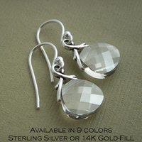 Jewelry, silver, gold, Earrings, Bride, Bridesmaid, Crystal, Swarovski, K garner designs