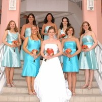 Fashion, yellow, Bridesmaid, Teal, Dresses, Aqua