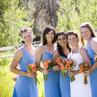 Ceremony, Flowers & Decor, Bridesmaids Dresses, Wedding Dresses, Fashion, blue, dress, Bridesmaid, Dresses