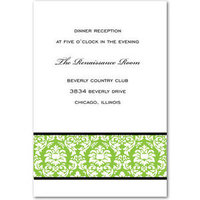 Stationery, Paper, green, invitation, Invitations, Wedding, Damask, Divas