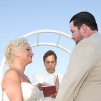 Ceremony, Flowers & Decor, Beach, Bride, Beach Wedding Flowers & Decor, Groom, Wedding, Marriage, Shawn mac photography, Altar