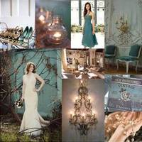 Inspiration, pink, blue, gold, Teal, Board