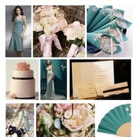 Inspiration, pink, blue, Teal, Board