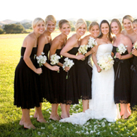 Fashion, white, black, Bridesmaid, Dresses